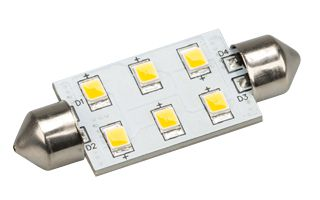 Автолампа ARL-F42-6E Warm White (10-30V, 6 LED 2835)