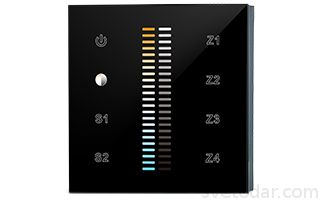 Панель Sens SR-2830B-AC-RF-IN Black (220V,MIX+DIM,4зоны) купить